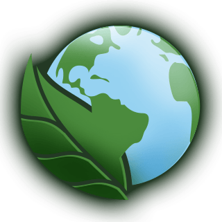 globe and leaf icon