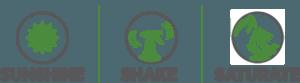 sunshine, shake, and saturate icons